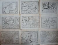 14 x Original Antique Maps of China & Asia c.1750 - Thomas Kitchin - Rare
