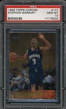 Stephon Marbury Knicks 1996 Topps Chrome #177 Rookie Card rC PSA 10 Gem Mint QTY