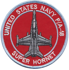 Boeing F/A-18E/F Super Hornet United States Navy USN Embroidered Patch