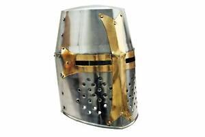 Medieval Knight Armor Crusader New Templar Helmet Helm w/ Mason's Cross