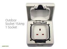 Outdoor Socket Weatherproof 13 Amp Uk Single 1 Gang New Free Post