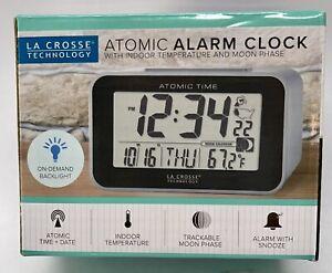 617-1270 La Crosse Technology Atomic Digital Alarm Clock Backlight - New In Box