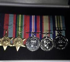 Miniature replica set of World War 2 Medals
