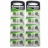 20 CAMELION AG10 / 189/389 / LR1130 Pile Bouton Longue durée de Conservation 0%