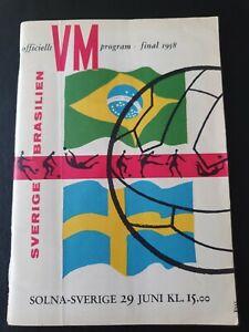 1958 World Cup Final - Sweden 🇸🇪 v Brazil 🇧🇷