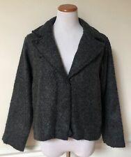 Nwt Gap Dark Gray Wool Cotton Hook And Bar Closure Coat Jacket Fully Lined M