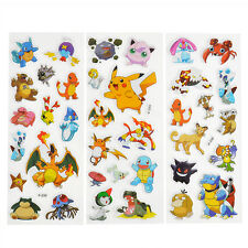 3pcs Pokemon Stickers Pikachu Pocket Monster Scrapbooking Sticker Sheet DIY