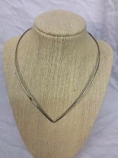 Pretty Vtg Mexico sterling 925  Collar V Shape Hook On necklace