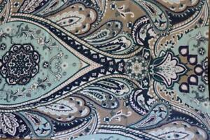 SOHO LIVING PAISLEY FLORAL BATH SHEET TOWEL(s) - TEAL/TAN/PURPLE/GRAY 34x64 NEW