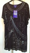 Jimmy Choo for H&M Top Schwarz Shirt Kleid Dress Black S Neu