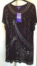 Jimmy Choo for H&M Top Schwarz Shirt Kleid Dress Black S Neu