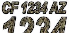 OAK DUCK Custom Boat Registration Numbers Decals Vinyl Lettering Stickers USCG