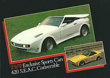 TVR 420 S.E.A.C Convertible UK Market Fold Out Glossy Brochure 1986-88
