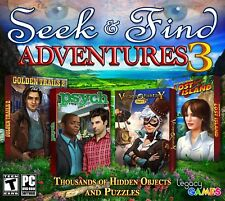 Seek and Find Adventures 3 (4 Hidden Object Game Pack) New