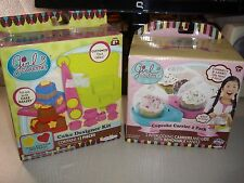 AW28 LOT 2 GIRL GOURMET CAKE DESIGNER KIT+ 2 PACK CUPCAKE CARRIER PINK/BLUE AW28