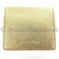 Glam Rock Gold High Quality Saffiano Leather Snap Close Coin Holder