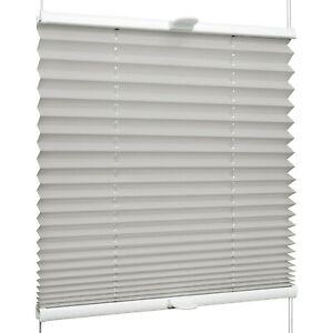 Plissee für Fenster & Tür mit Klemmhaltern Klemmfix ohne Bohren | Grau