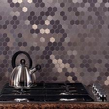 Metal Tile for Kitchen Peel and Stick Backsplash Honeycomb Aspect A98-50