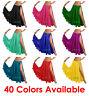 Satin 2 Full Slit Skirt Belly Dance Gypsy Tribal 9 Yard Panel Jupe Flamenco Boho