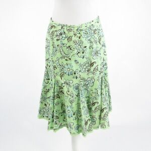Light green blue floral print 100% cotton HAROLD'S pencil skirt 8