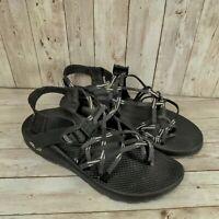 Chaco Women's ZX3 Sport Sandal black Gray & White Textile Size 9