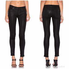 NEW Hudson Krista Super Skinny Jeans Edgy Noir Coated Black Womens Size 27