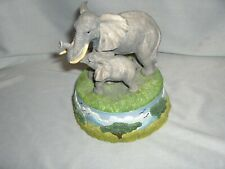 Vintage Mother & Baby Elephants San Francisco Music Box Co 1994 Rare