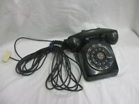 Western Electric Black Rotary Telephone 5302 G w Type F1 Handset Bell System