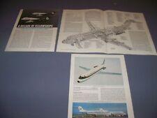 VINTAGE..FOKKER F28 MK.4000 ..CUTAWAY/3-VIEWS/SPECS..RARE! (186C)