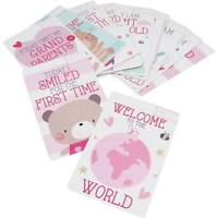 30 BABY GIRL MEMORABLE MOMENTS MILESTONE CARDS NEW BABY SHOWER GIFT