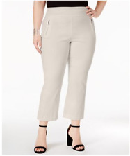 I.N.C. Women's Plus Size Zip-Pocket Cropped Pants,Beige,14W      $69.50