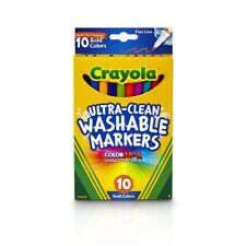 Crayola Ultra Clean Washable Markers Fine Line Classic Colors 10 Count