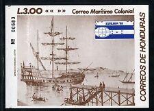 Honduras 358, Mnh, Exfilhon s/s Ship Stamp Expo 1988 x17183
