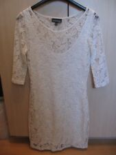Ladies Warehouse White 3/4 Sleeve Lace Pencil Midi Dress with Lining size 10 NEW