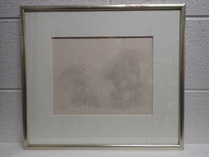 Richard Bogart (American b. 1929) Original Signed & Framed Art with Trees in Fog