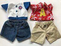Build a Bear Mixed Boy Shirts and Shorts Hawaiian Alvin Chipmunk Cubs Baseball