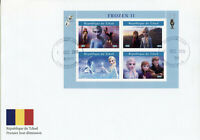 Chad Disney Stamps 2019 FDC Frozen 2 Elsa Olaf Cartoons Animation 4v M/S II