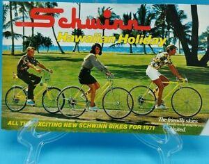 SCHWINN BICYCLES 1971 Product catalog brochure inc Manta Ray StingRay Krates