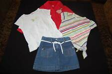 GYMBOREE Wish You Were Here Lot Red Blazer, Denim Skirt, Diagonal Stripe Top 6 7