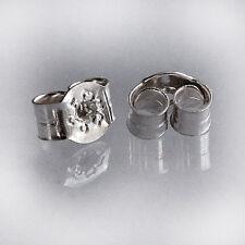 1 Paire Heavy solid 925 Sterling Silver Stud Boucle d'oreille papillon arrière Scrolls SF098