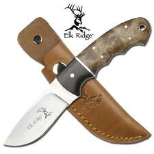 Couteau de Chasse Elk Ridge Hunter Acier Carbone/Inox Manche 2 Bois ER128