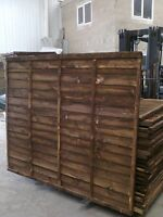 Low Cost - Budget Timber Treated Fence Panels - 6 x 6 (6ft high x 6ft wide)