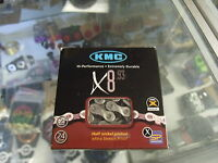 "KMC X8.93--6-7-8-21-24 3 X 7 3 X 8 SPEED 1/2"" X 3/32""SHIMANO-SRAM MTB-ROAD CHAIN"