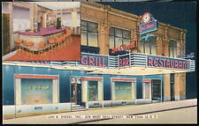 NYC NY Lou G Siegel Bar & Grill Vintage Kosher Restaurant Old City Postcard PC