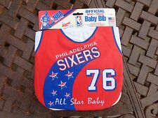 Vintage Philadelphia 76ers Old School  Baby Bib Jersey  Infant, Toddlers RARE !