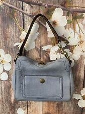 Coach-10053 Ladies Leather Small Purse Blue Leather Vintage