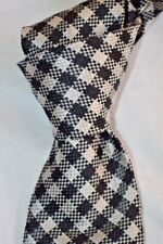 """$250NWOT TOM FORD Off White w/ Black Gingham check Thick 4"""" woven Silk tie ITALY"""