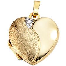 Medaillon Herz 333 Gold Gelbgold teileismatt H 19,0 Medallion Medaillion Amulet