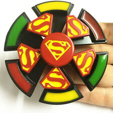 2 in 1 super hero superman Fidget Spinner with Compass EDC Game Metal Gyro