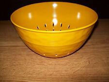 MELAMINE 2.9 QUART COLANDER BOWL WITH HAMMERED LOOK GOLD COLOR BPA FREE